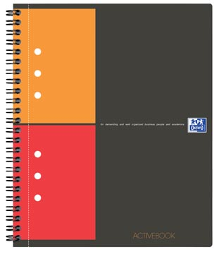 Oxford INTERNATIONAL Activebook, 160 bladzijden, ft A4+, geruit 5 mm
