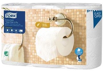 Tork toiletpapier Extra Soft 3-laags, voor systeem T4, pak van 6 rollen