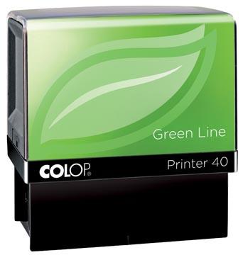 Colop stempel Green Line Printer Printer 40, max. 6 regels, voor Nederland, ft. 23 x 59 mm