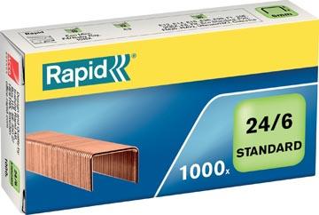 Rapid Nietjes 24/6, koper, doos van 1.000 nietjes