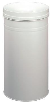 Durable afvalbak Safe+, 60 liter, metaal, lichtgrijs