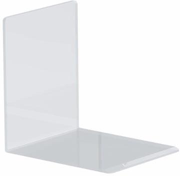 Maul boekensteun ft 10 x 8 x 10 cm, transparant