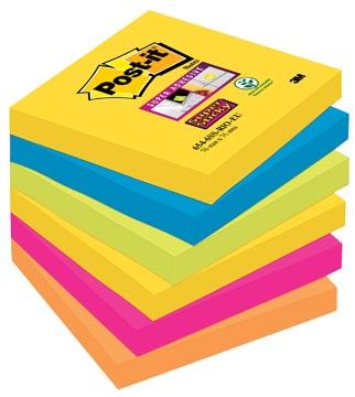 Post-it Super Sticky notes Rio, ft 76 x 76 mm, 90 vel, pak van 6 blokken