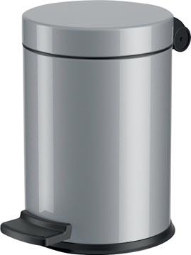 Hailo pedaalemmer voor sanitair, 4 L, zilver
