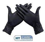 Handschoenen uit nitril, extra large, zwart, doos van 100 stuks