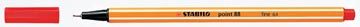 STABILO point 88 fineliner, rood