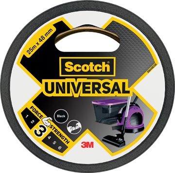 Scotch ducttape Universal, ft 48 mm x 25 m, zwart