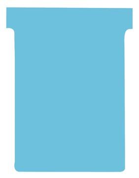 Nobo T-kaarten index 3, ft 120 x 92 mm, lichtblauw, pak met 100 stuks